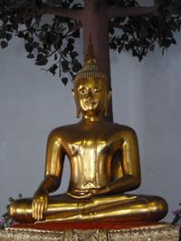 Thai Buddha image in Touching the Earth Mudra
